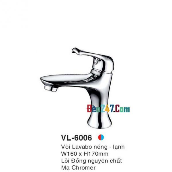 Vòi Lavabo Nóng Lạnh Euroto VL-6006