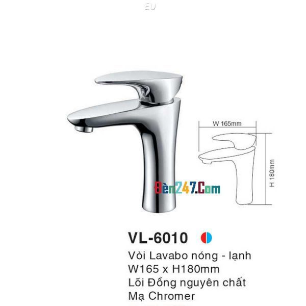Vòi Lavabo Nóng Lạnh Euroto VL-6010