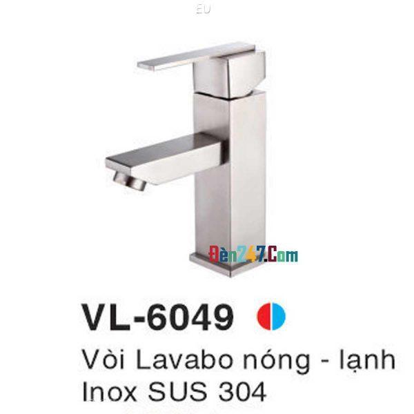 Vòi Lavabo Inox Nóng Lạnh VL-6049