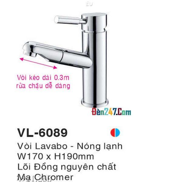 Vòi Lavabo Nóng Lạnh Euroto VL-6089