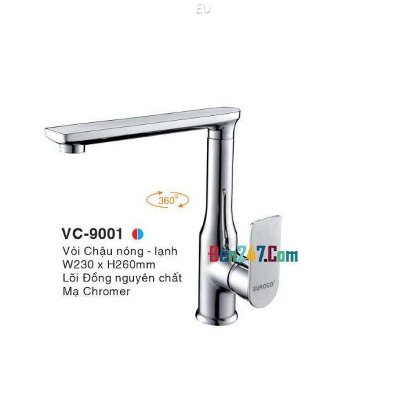 Vòi Chậu Nóng Lạnh Euroto VL-9001