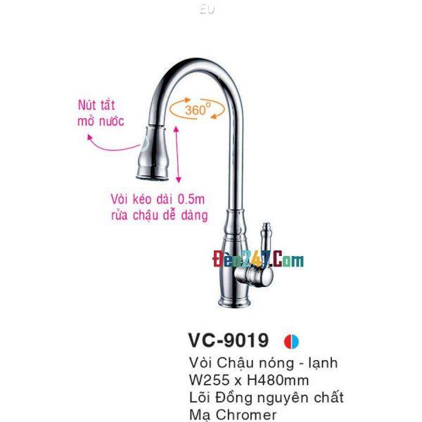 Vòi Chậu Nóng Lạnh Euroto VL-9019