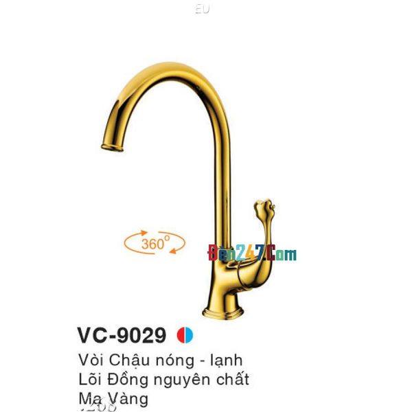 Vòi Chậu Mạ Vàng Nóng Lạnh Euroto VL-9029