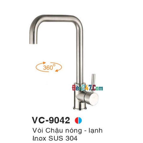 Vòi Chậu Inox Nóng Lạnh Euroto VL-9042