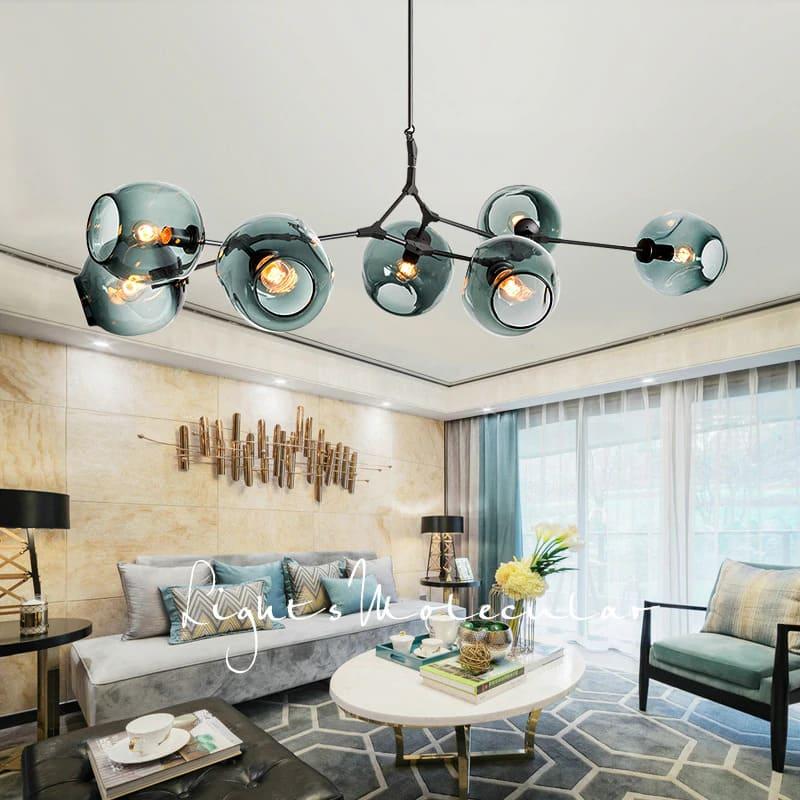 đèn chùm hiện đại cao cấp phòng khách