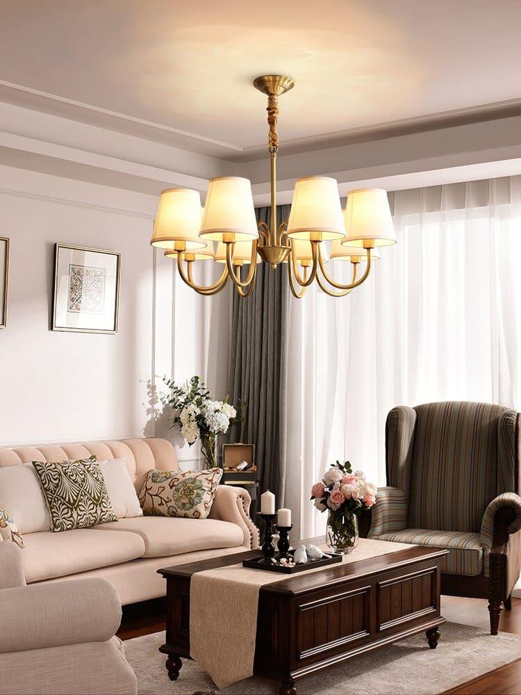 đèn chùm phòng khách đơn giản giá rẻ
