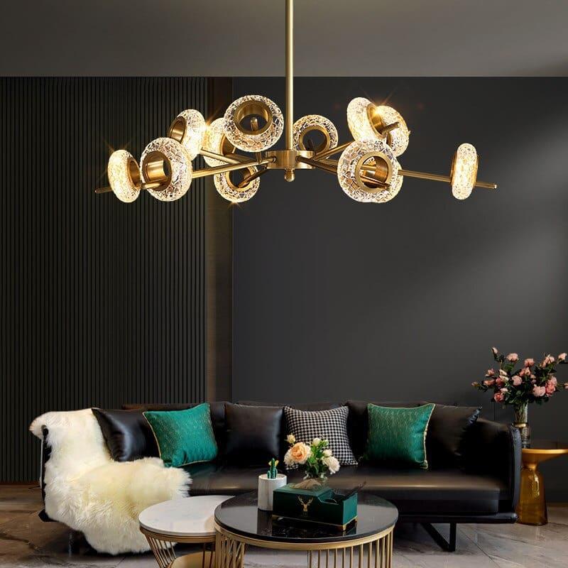 đèn chùm phòng khách hiện đại