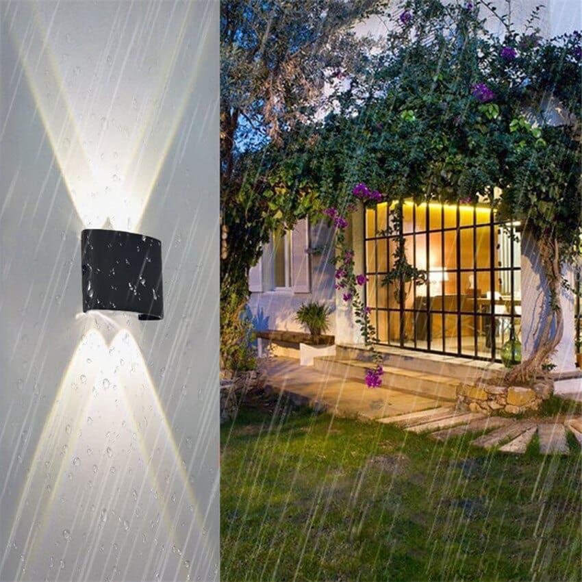 đèn led hắt tường trang trí ngoài trời