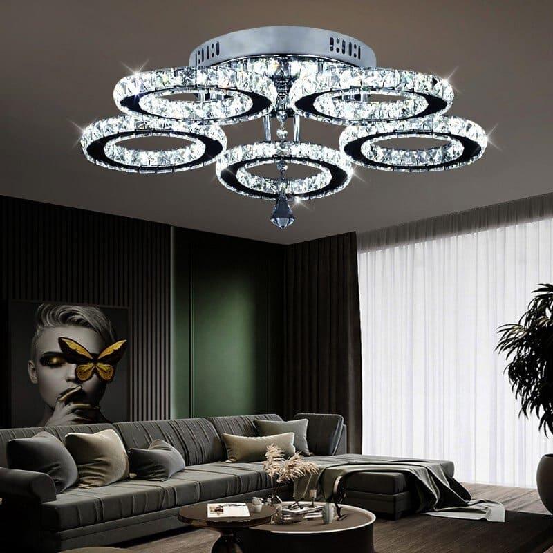 đèn mâm led trang trí phòng khách