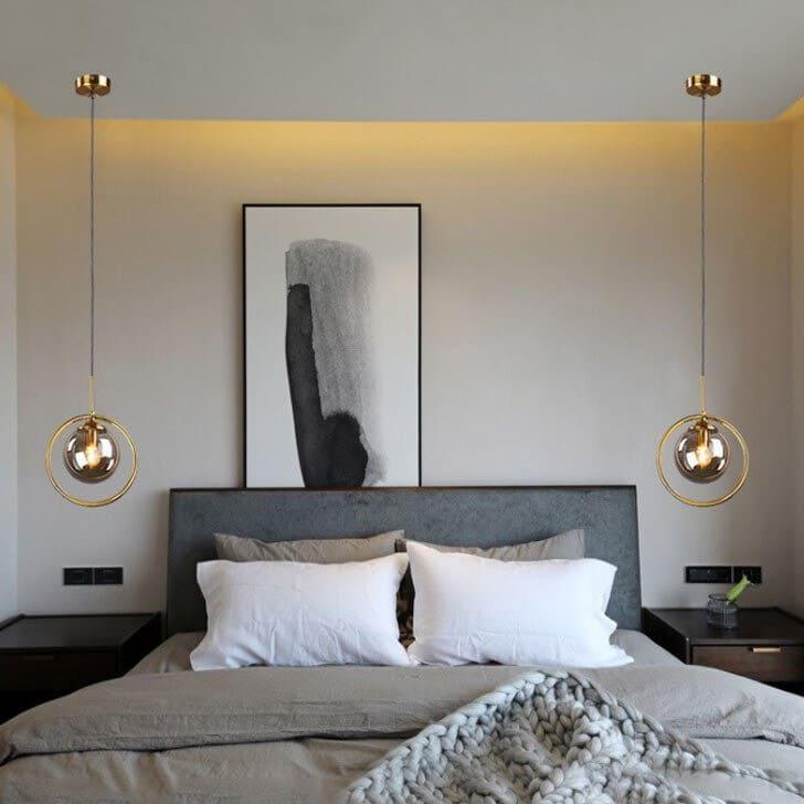 Đèn thả led trang trí phòng ngủ