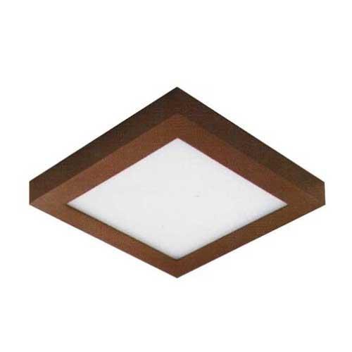 Đèn ốp trần cao cấp Anfaco Led 12W vuông, vỏ nâu