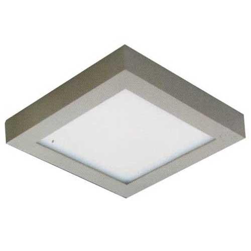 Đèn ốp trần cao cấp Anfaco Led 6W vuông, vỏ xám, 3 chế độ ánh sáng